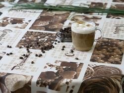 Тефлоновые ткани LOUVRE - дизайн CAFE